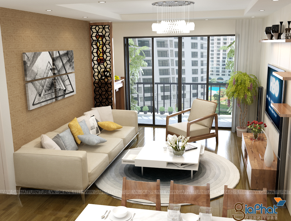 Thiết kế nội thất phòng khách đẹp 2015