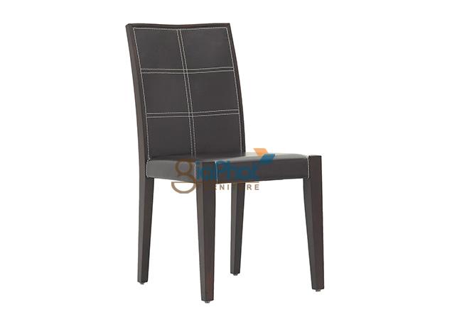 Ghế ăn gỗ bọc da - B033